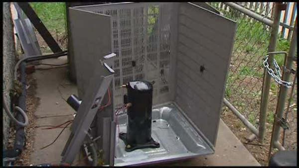AC compressors stolen from senior center