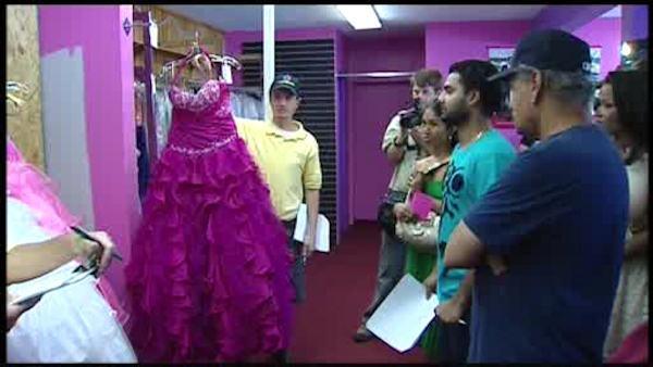 NJ dress store holds court ordered auction