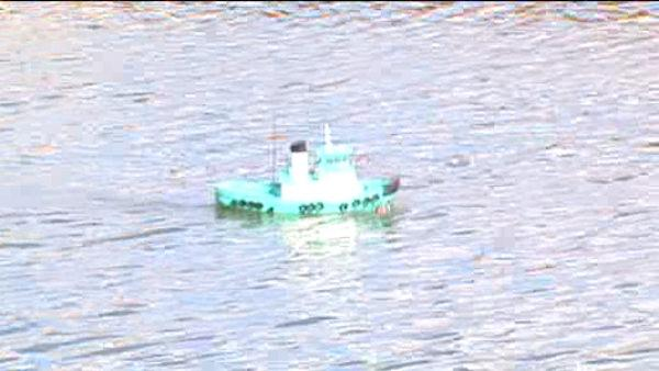 Remote controlled boats make use of polluted water
