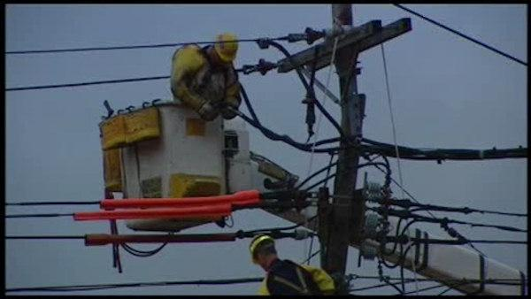 Power lines fall in NJ storms