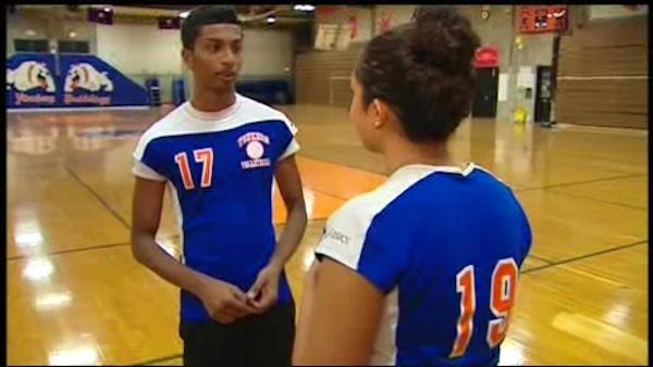 Boy fights to play volleyball on girls' team
