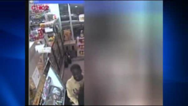 Surveillance video of Harlem robbery suspect