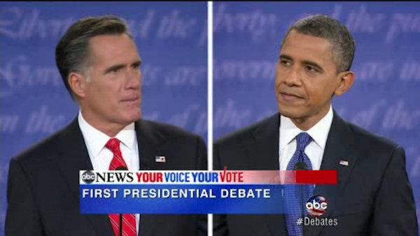 Obama and Romney engage in first Presidential Debates