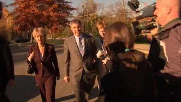 Douglas Kennedy appears in court after confrontation