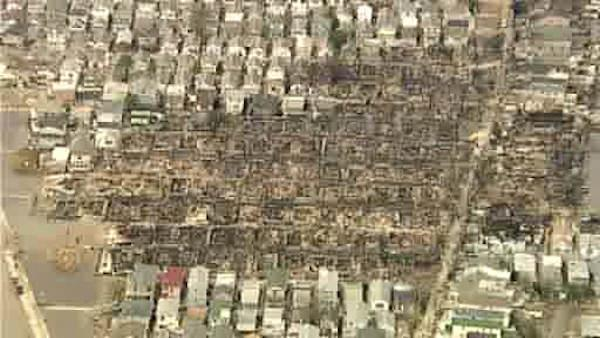 Aerial view of Breezy Point, Queens