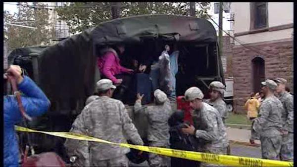 Dramatic evacuations in Hoboken, New Jersey