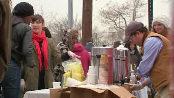 Volunteers head to Coney Island to help Sandy victims