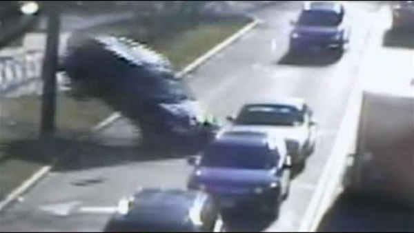 'Doctor of the Year' crash caught on camera