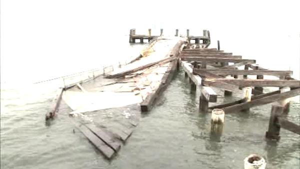 Sandy's damage to historic Liberty Island widespread