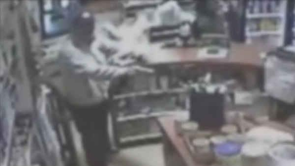 Surveillance video of Bronx deli robbery