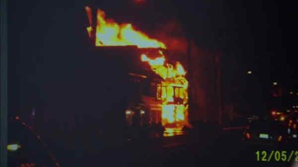 New Jersey home damaged in Sandy goes up in flames