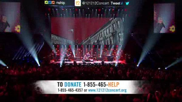 Where the money raised at the 121212 concert is going