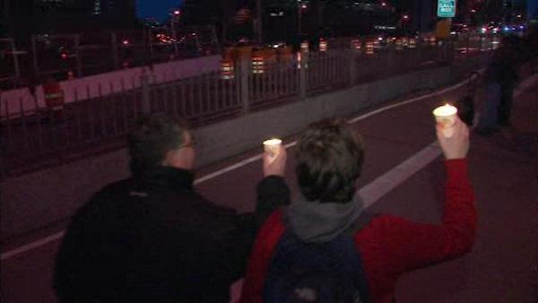 The NRA defends its stance while marchers on the Brooklyn Bridge call for tighter gun laws