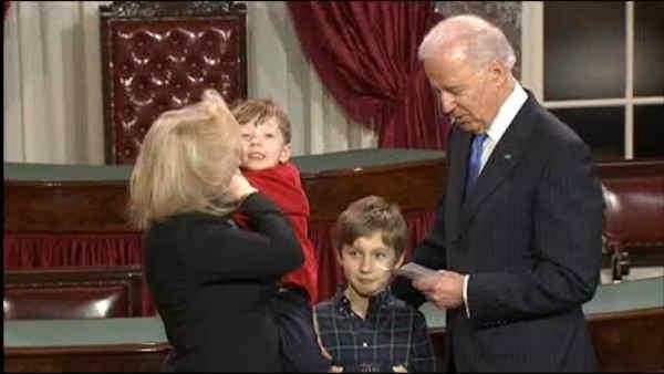 Sen. Gillibrand's son steals show at swearing-in