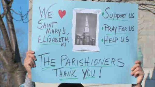 Parishioners from NJ church stage demonstration