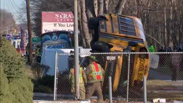Commuter bus, school bus collide in NJ