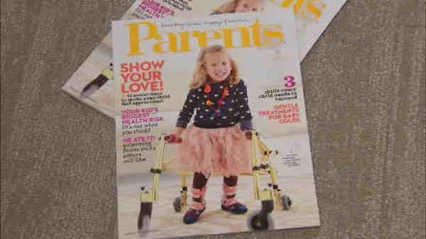 Disabled girl appears on cover of 'Parents' magazine