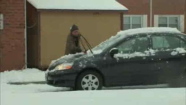 Snow blankets parts of the northern suburbs