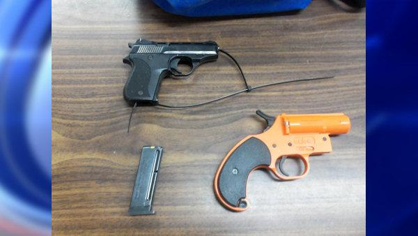 2nd grader brings loaded gun and flare into school
