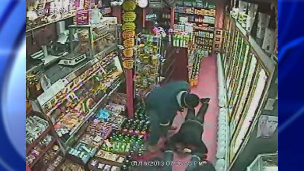 Surveillance video of deli robbery in Brooklyn