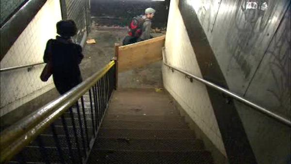 MTA, building, fight over trashed subway stairs