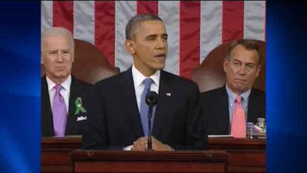 Obama talks economy, gun control in State of the Union