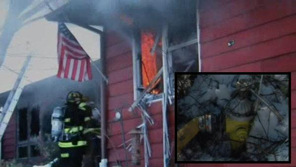 Firefighters injured battling house fire