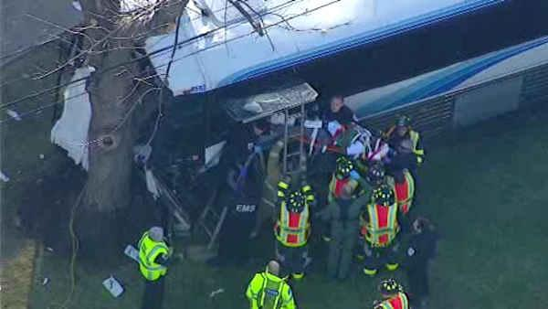Video released of Old Bridge bus collision