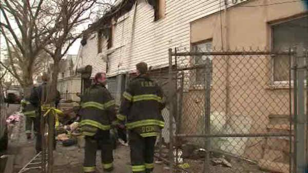 Man found with gunshot wound inside Queens apartment fire