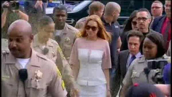 Lindsay Lohan appears in court in misdemeanor case