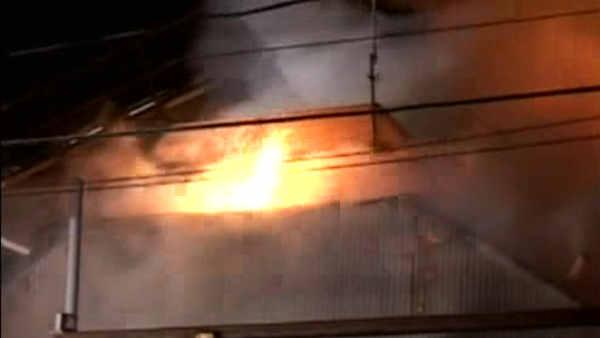 concrete plant fire in rosedale, queens