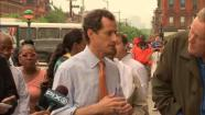 anthony weiner campaigns in harlem