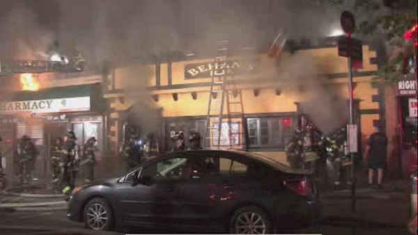 fire guts businesses in