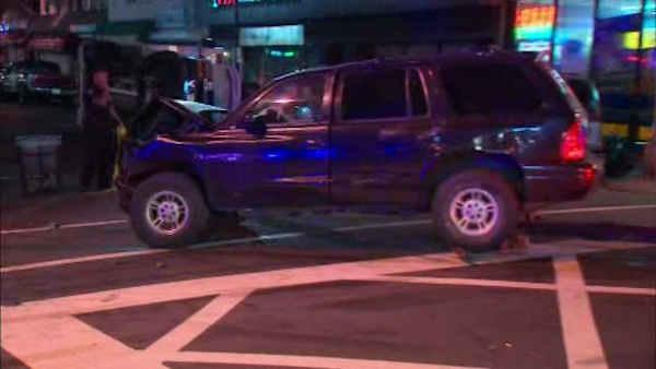 ambulance, suv collide in new jersey