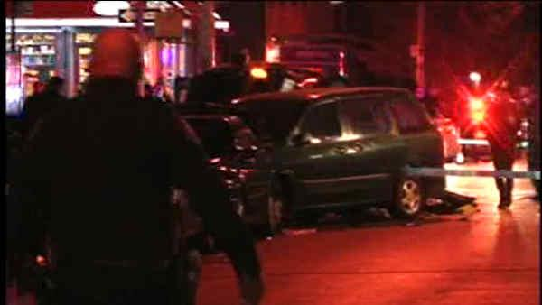 car, van collide in bedford-stuyvesant, brooklyn