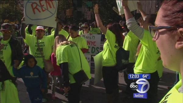 Thousands protest for NYC Charter Schools