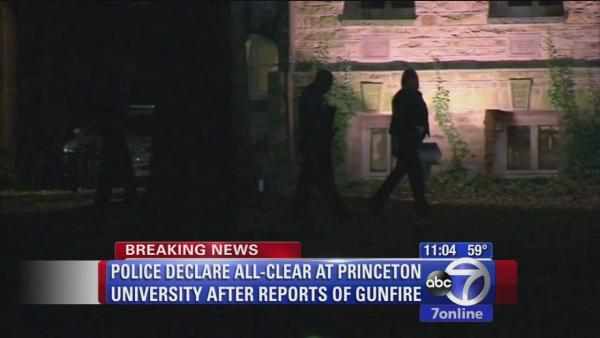 All-clear at Princton Univ. after report of gunshots