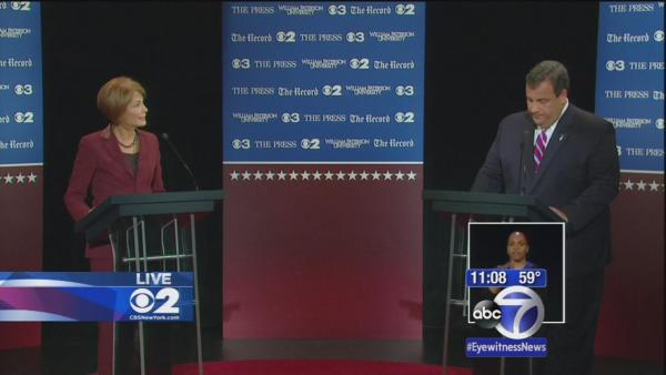Christie and Buono debate in race for NJ Governor