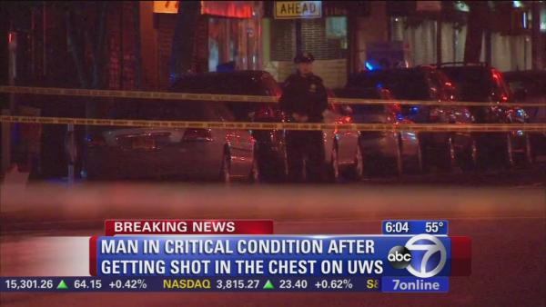 Manhunt for gunman after man shot in chest on UWS