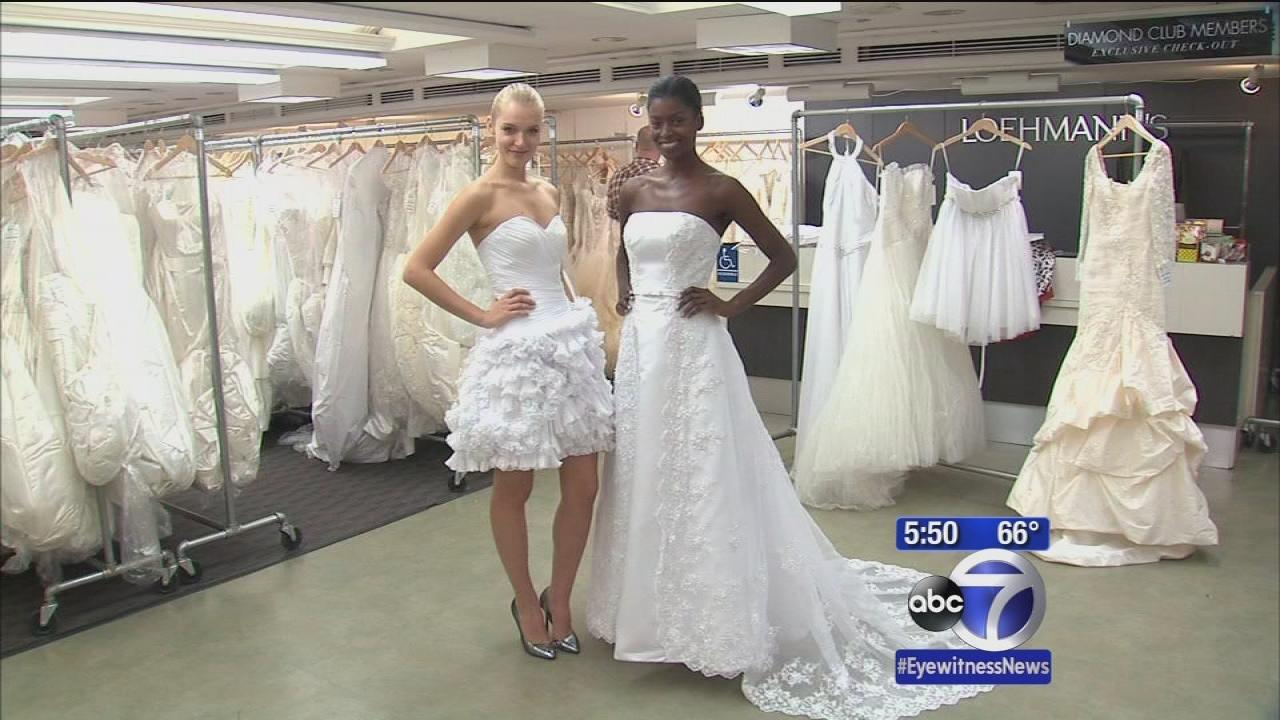Brides ready for Loehmann's 'Grab the Gown' in New ...