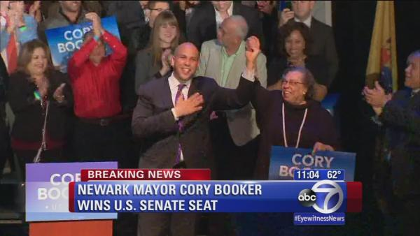 Newark Mayor Cory Booker wins US Senate seat