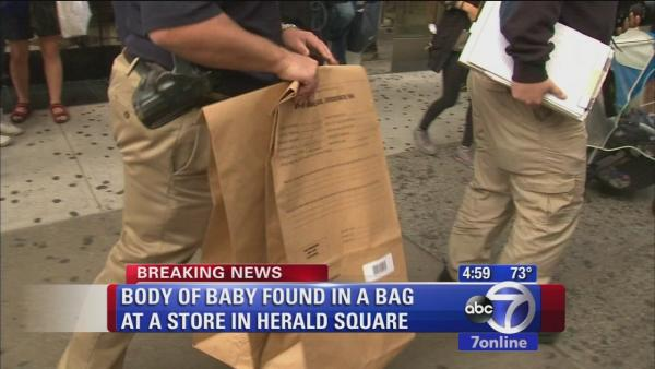 Body of baby found in bag inside Victoria's Secret