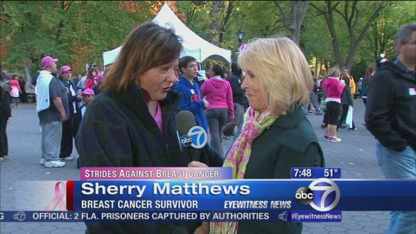 Central Park walk to fight breast cancer