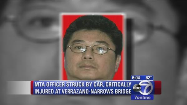 MTA officer struck by car at Verrazano Bridge