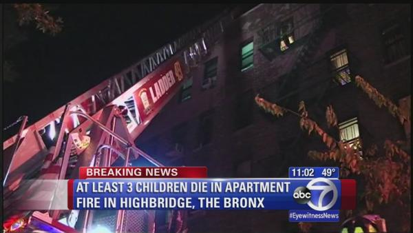 Three little boys, brothers, die in Bronx fire
