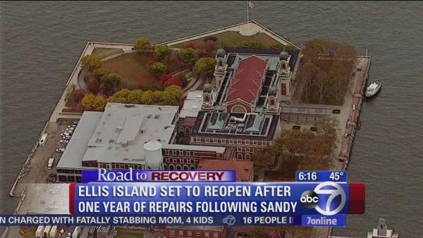 Ellis Island to reopen Monday after damage from Sandy