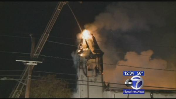 Church gutted by fire in New Jersey