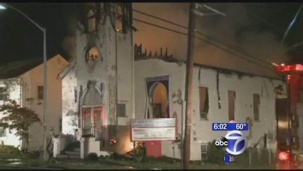 New Jersey church gutted from fire