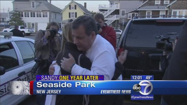 Governor Christie visits victims of Superstorm Sandy