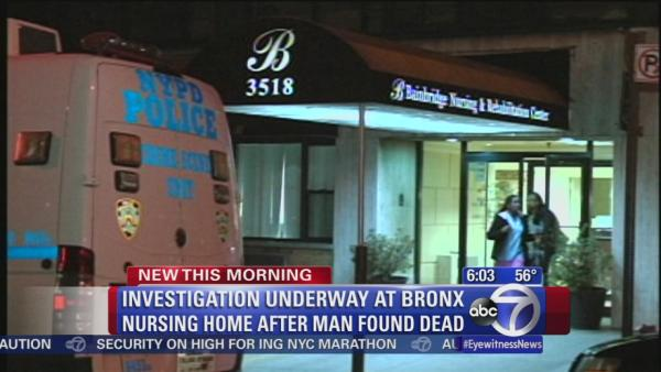 Man found dead in Bronx nursing home